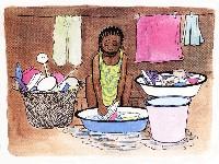 disegno di ragazza africana
